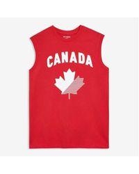 Joe Fresh Canada Graphic Tank - Red