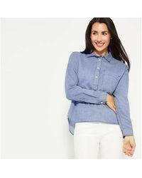 Joe Fresh Crop Boxy Fit Shirt - Blue