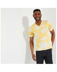Joe Fresh Slim-fit V-neck Tee - Yellow