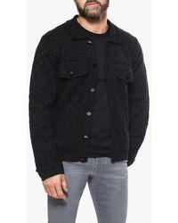 Joe's Jeans Knit Trucker Jacket - Black