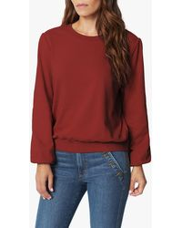 Joe's Jeans The Long Bouffant Sleeve Sweatshirt - Red