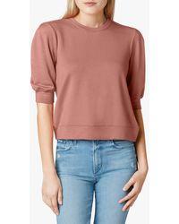 Joe's Jeans Folded Puff Sleeve Sweatshirt - Pink