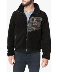 Joe's Jeans Spliced Sherpa Jacket - Black