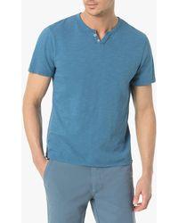 Joe's Jeans Wintz S/s Henley - Blue