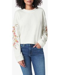Joe's Jeans The Daisy Embroidery Sweatshirt - White