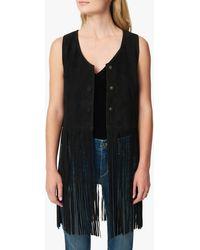 Joe's Jeans Fringe Vest - Black