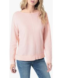 Joe's Jeans Odetta Open Back Sweatshirt - Pink