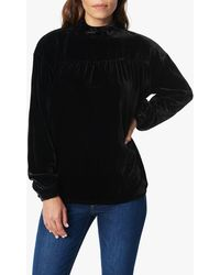 Joe's Jeans Velvet Gathering Empire Blouse - Black