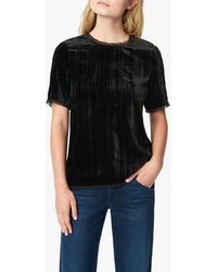 Joe's Jeans Crushed Velvet Tee - Black