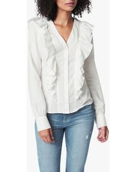 Joe's Jeans The Poplin Ruffle Shirt - White