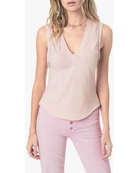 Joe's Jeans Gwen Sleeveless Tee - Pink