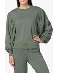 Joe's Jeans Olwyn Puff Sleeve Sweatshirt - Green