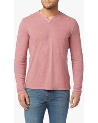 Joe's Jeans Wintz L/s Henley - Pink