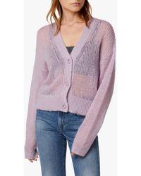 Joe's Jeans Reed 4 Button Slouchy Cardigan - Purple