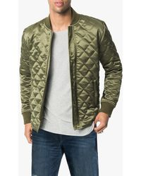 Joe's Jeans Quilted Bomber Jacket - Green