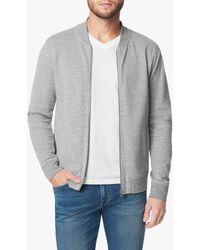Joe's Jeans Knit Varsity Jacket - Grey