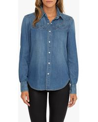 Joe's Jeans Indigo Wash Western Welt Pocket Shirt - Blue