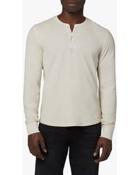 Joe's Jeans Essential Doublefaced Thermal Henley - Natural
