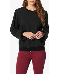 Joe's Jeans The Long Bouffant Sleeve Sweatshirt - Black