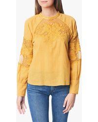 Joe's Jeans Marjorie Latern Slv / Lace Panel Blouse - Yellow