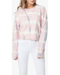 Joe's Jeans The Tie Dye Cropped Sweatshirt - Pink