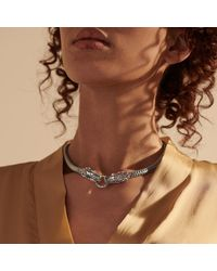 John Hardy Legends Naga Sterling Silver Medium Dragon Necklace - Metallic