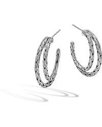 John Hardy - Classic Chain Small Hoop Earring - Lyst