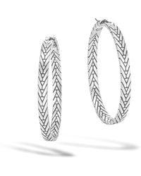 John Hardy - Modern Chain Medium Hoop Earring - Lyst