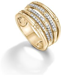 John Hardy - Bamboo Ring With Diamonds - Lyst