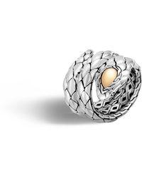 John Hardy - Cobra Double Coil Ring - Lyst