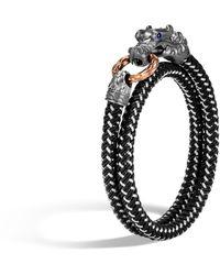 John Hardy Men's Legends Naga Bracelet W/ Nylon Cord - Black