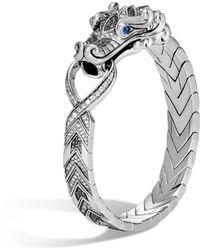 John Hardy - Naga Station Bracelet, Black Sapphire And Spinel, Grey Dia - Lyst
