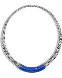 John Hardy - Classic Chain Graduated Necklace With Lapis Lazuli - Lyst