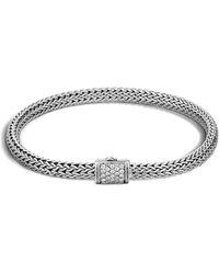 John Hardy - Classic Chain Bracelet With Diamonds - Lyst