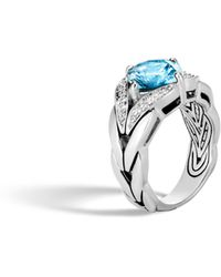John Hardy - Magic Cut Ring With Blue Topaz And Diamonds - Lyst