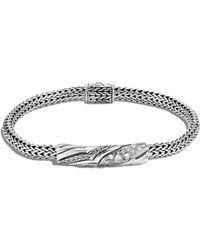 John Hardy - Station Bracelet With Diamonds - Lyst