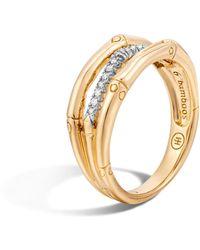 John Hardy - Bamboo Ring With Diamonds - Lyst