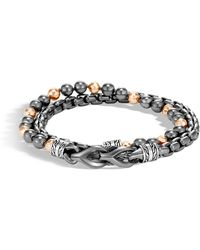 John Hardy - Asli Classic Chain Link Wrap Bracelet With Hematite - Lyst