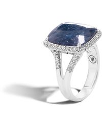 John Hardy - Magic Cut Ring With Blue Sapphire And Diamonds - Lyst