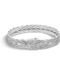 John Hardy - Modern Chain Bracelet With Diamonds - Lyst