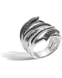 John Hardy - Bamboo Lava Extra-wide Ring With Black Sapphire - Lyst