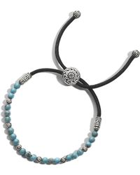 John Hardy - Classic Chain Pull Through Bracelet With Turquoise - Lyst