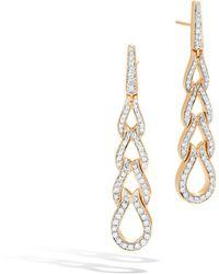John Hardy Classic Chain Drop Earring With Diamonds White diamond BIAGqj7J