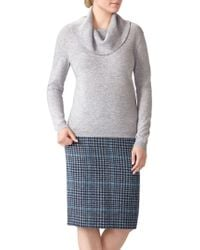 Pure Collection - Cashmere Cowl Neck Sweater - Lyst