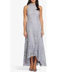 Adrianna Papell Metallic Lace Dress