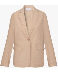 Gerard Darel Alexa Linen Blend Jacket - Natural