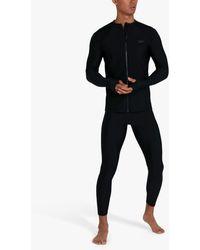 Speedo Essential Long Sleeve Zip Rash Top - Black