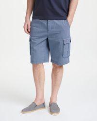 John Lewis - Stripe Cotton Cargo Shorts - Lyst
