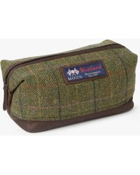 John Lewis - Made In England Moon Check Wash Bag - Lyst