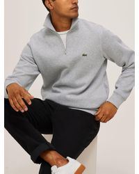 Lacoste 1/4 Zip Jersey Top - Grey